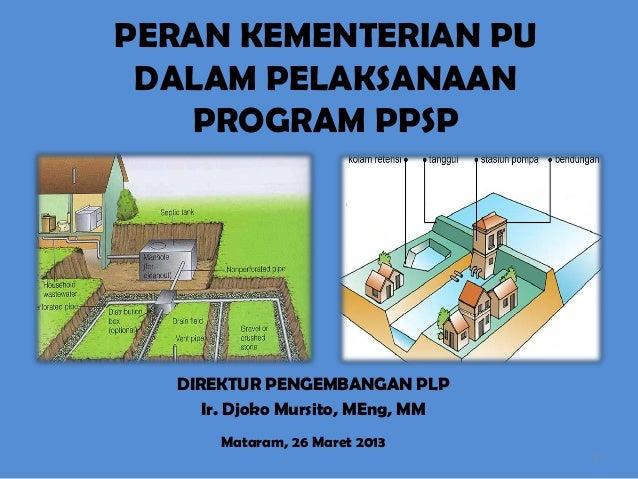 Peran Kementrian Pekerjaan Umum dalam Pelaksanaan Program PPSP