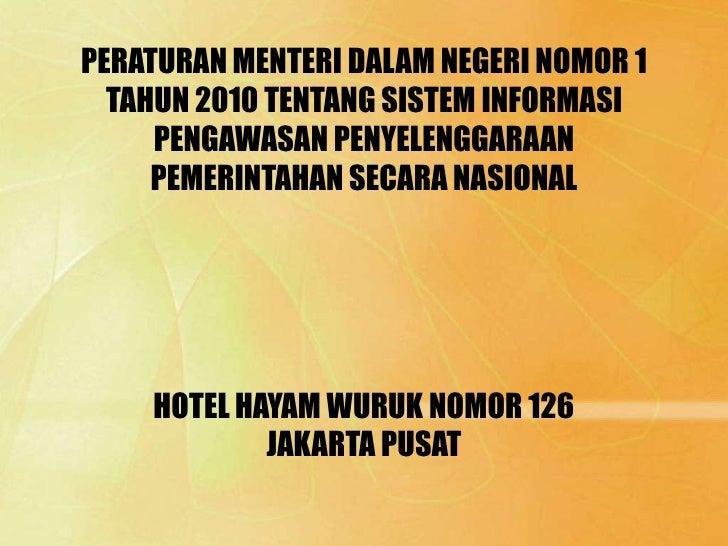 Peraturan menteri dalam negeri nomor 1 tahun 2010po