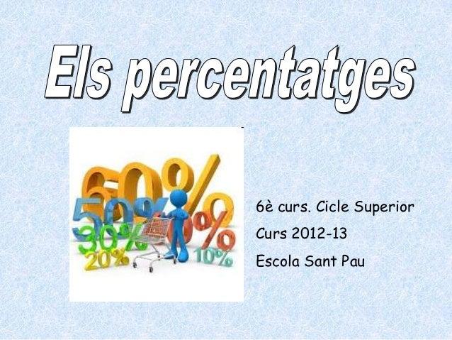 Percentatges