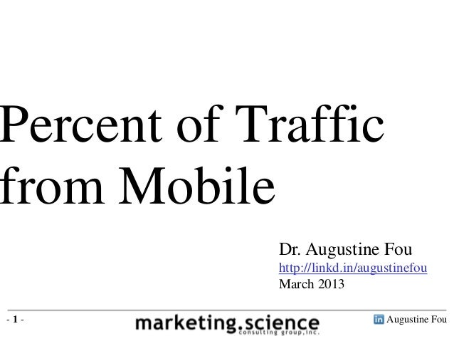 Augustine Fou- 1 - Dr. Augustine Fou http://linkd.in/augustinefou March 2013 Percent of Traffic from Mobile
