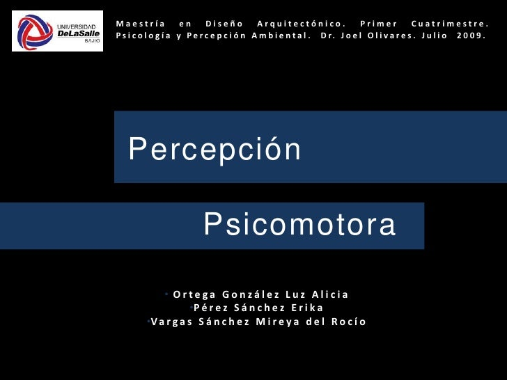 Percepcion Psicomotora