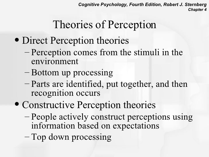 gibson s theory of perception The gibson's differentiation theory pertains to perceptual learning which involves improvement in both perception as a function of experience and the acquisition of knowledge as a function of.