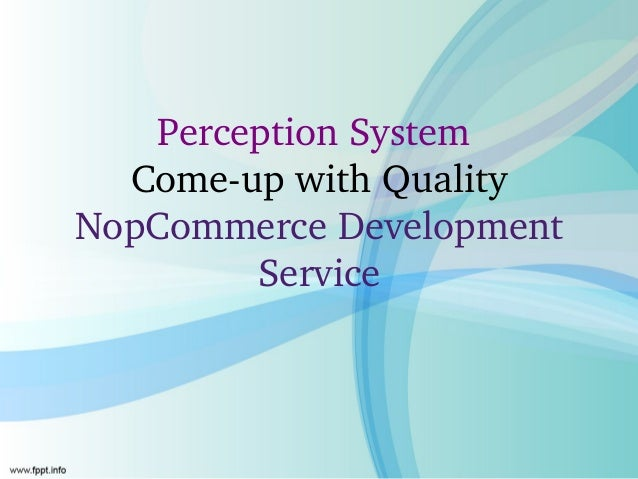 Perception System   Come­up with Quality NopCommerce Development         Service