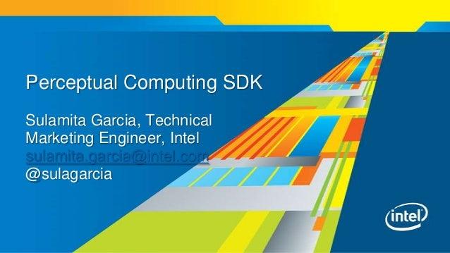 Perceptual Computing SDK Sulamita Garcia, Technical Marketing Engineer, Intel sulamita.garcia@intel.com @sulagarcia