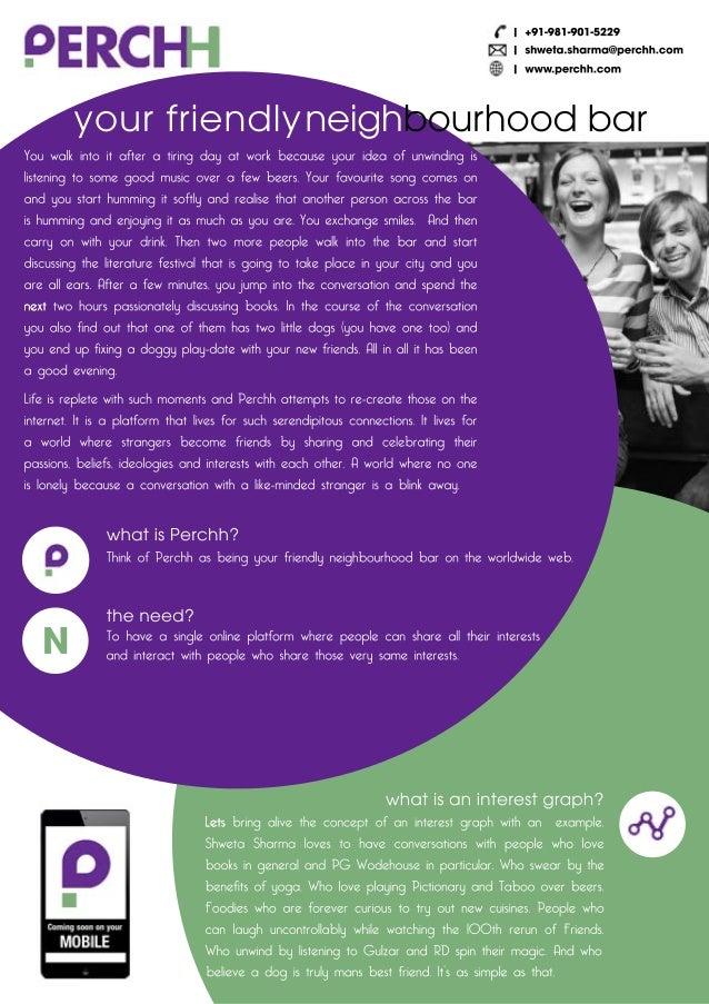Social Media Platform Feature :  Perchh