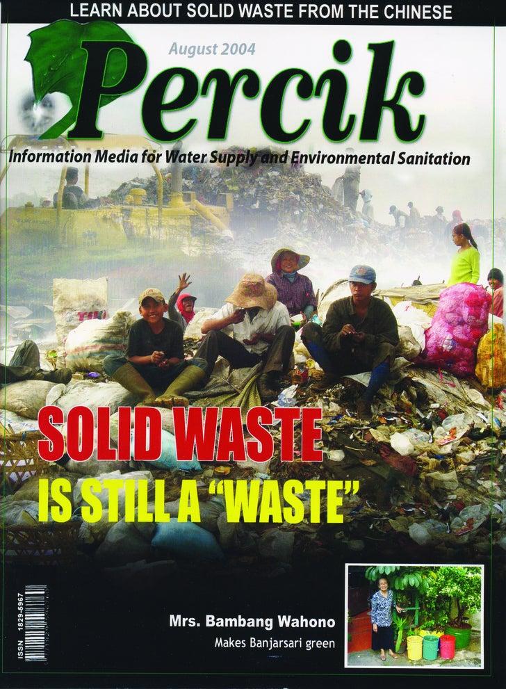 Indonesia Water Supply and Sanitation Magazine. 'PERCIK' Vol 5  August 2004