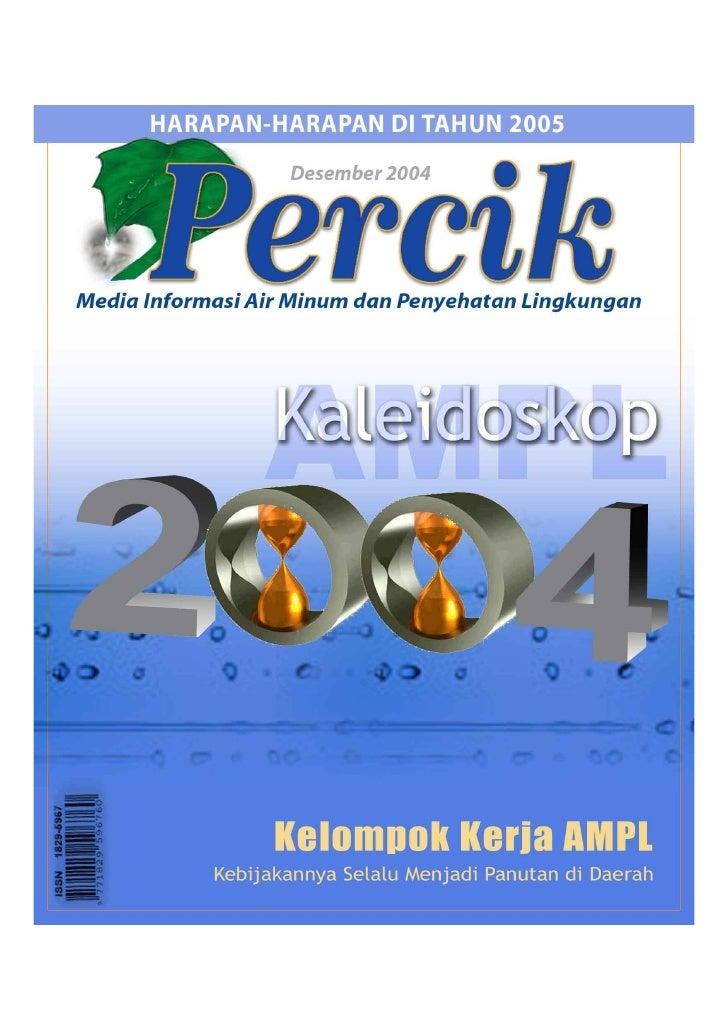 Majalah Air Minum dan Penyehatan Lingkungan 'PERCIK' Vol 7  Desember 2004