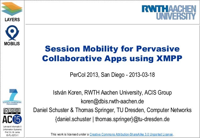 LAYERS MOBILIS                            Session Mobility for Pervasive                            Collaborative Apps usi...