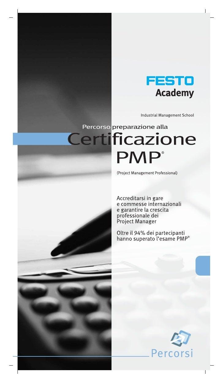 Preparazione alla Certificazione Pmp Festo Academy
