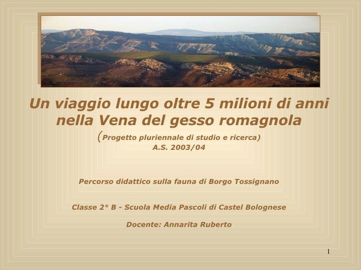Un viaggio lungo oltre 5 milioni di anni nella Vena del gesso romagnola ( Progetto pluriennale di studio e ricerca) A.S. 2...