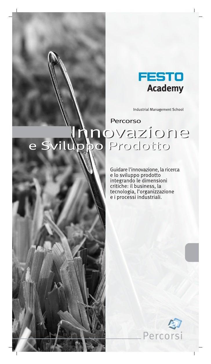 Innovazione E Sviluppo Prodotto Festo Academy