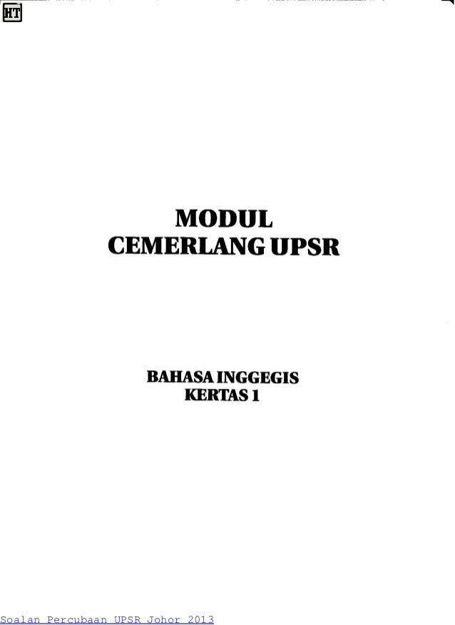 Soalan Percubaan UPSR Johor 2013