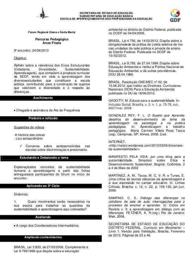 SECRETARIA DE ESTADO DE EDUCAÇÃOSUBSECRETARIA DE EDUCAÇÃO BÁSICAESCOLA DE APERFEIÇOAMENTOS DOS PROFISSIONAIS DA EDUCAÇÃOFó...