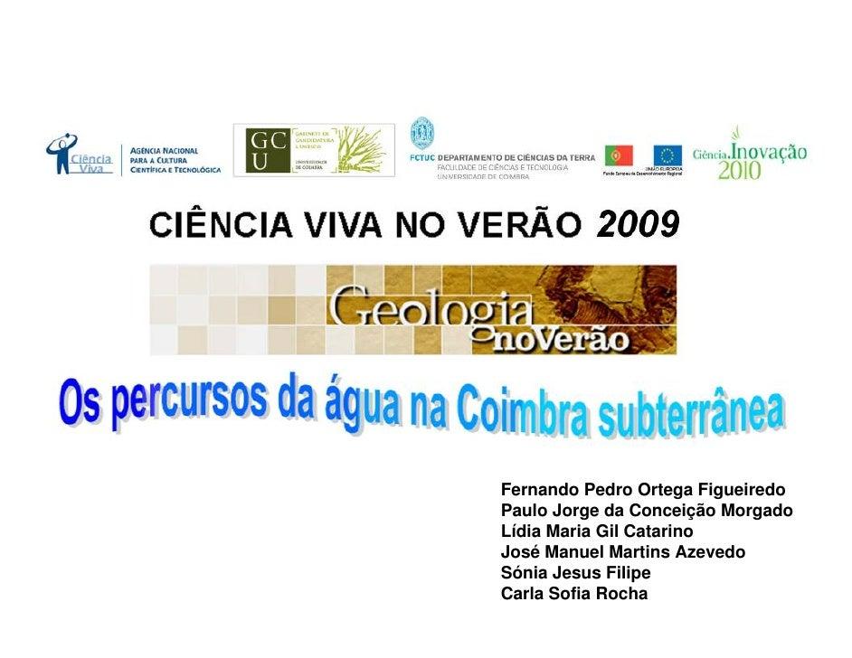 Percursos aguacoimbrasubterranea2009