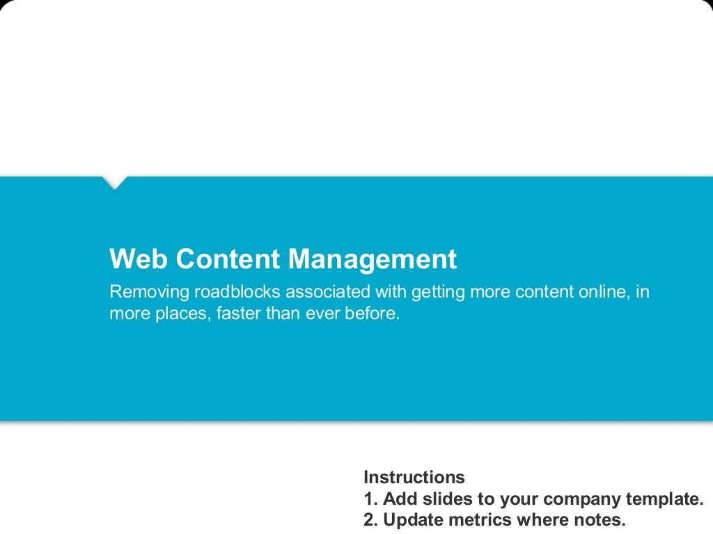 Web Content Management Internal Selling Template