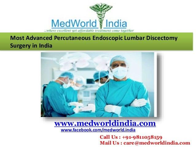Percutaneous Endoscopic Iumbar Discectomy (PLED) Surgery in India