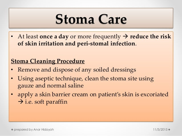 how to clear a blockage in stoma