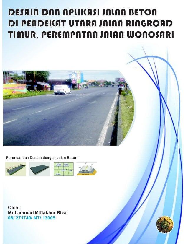 Perencanaan jalan beton