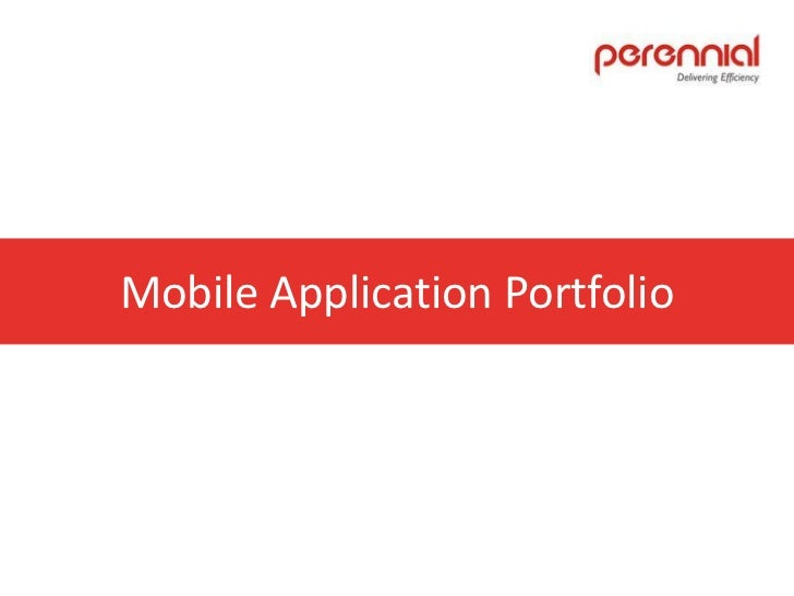 Mobile Application Portfolio