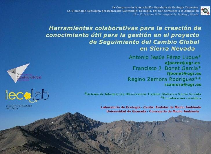 Perez Luque Herramientas Colaborativas Obs Sn Aeet Oct 2009l