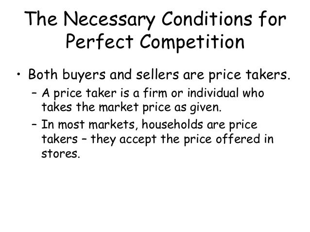 perfect competition 9 essay Essays from bookrags provide great ideas for perfect competition essays and paper topics like essay view this student essay about perfect competition.