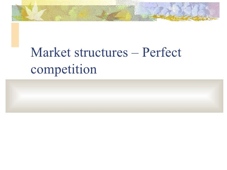 Perfect competition iimm