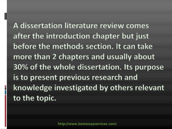 dissertation review of related literature