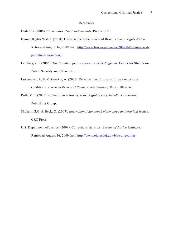 criminal justice process essay