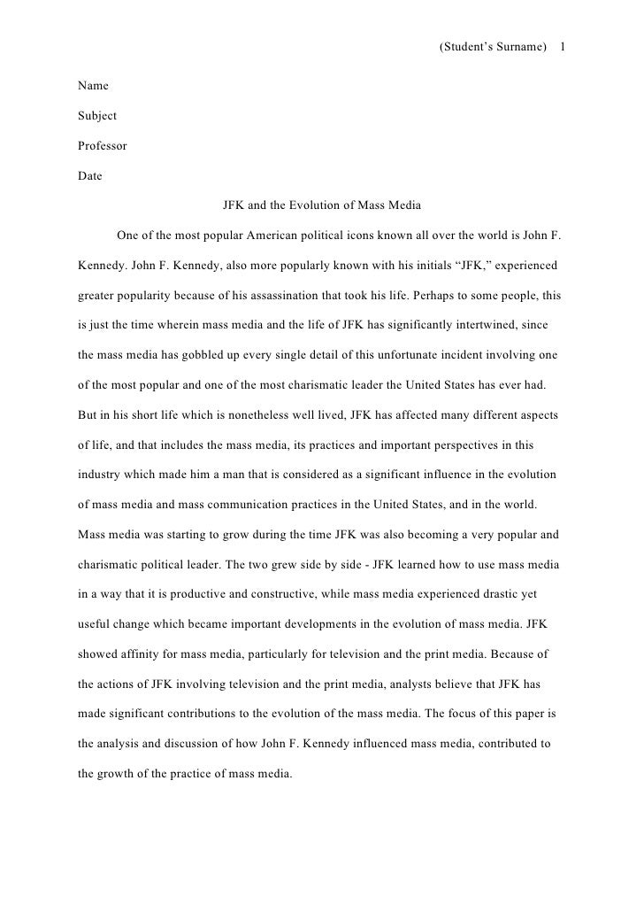 Template for a Term Paper - University of North Florida