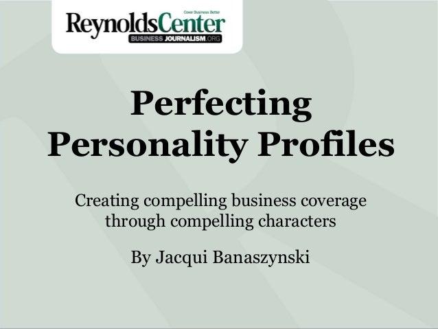 Perfecting Personality Profiles with Jacqui Banaszynski - Day 2