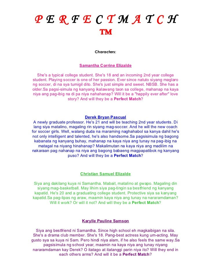 PERFECTMATCH      ™                                  Characters:                          Samantha Corrine Elizalde   Shes...