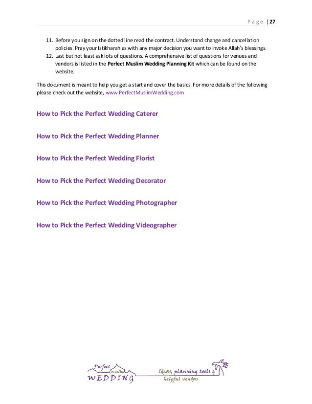 Perfect Muslim Wedding Planning Guide