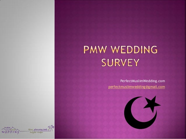 muslim wedding survey