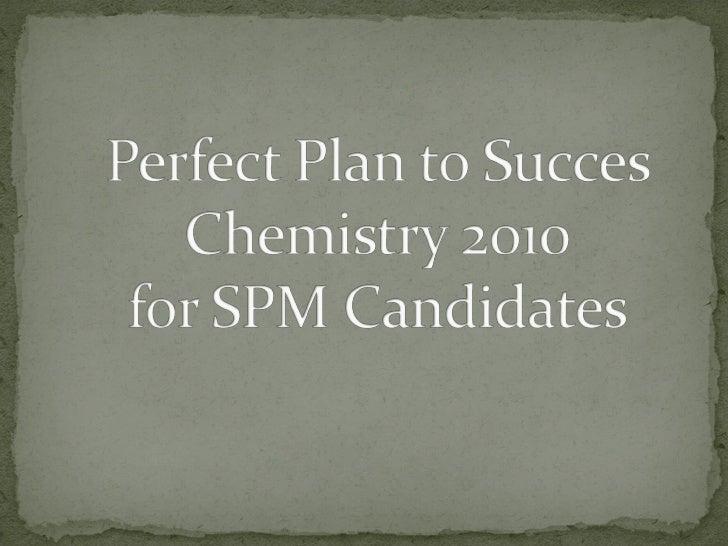Perfect plan to succes