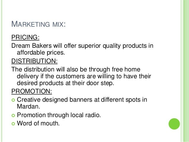 A Sample Home Bakery Business Plan Template