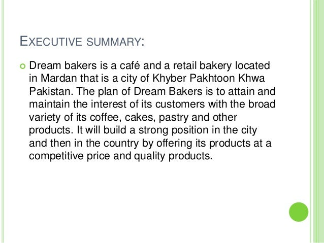 essay bakery This paper discusses tohnoon bakeryhind al mulla formed the tohnoon bakery because of her natural love for baking and her passion.