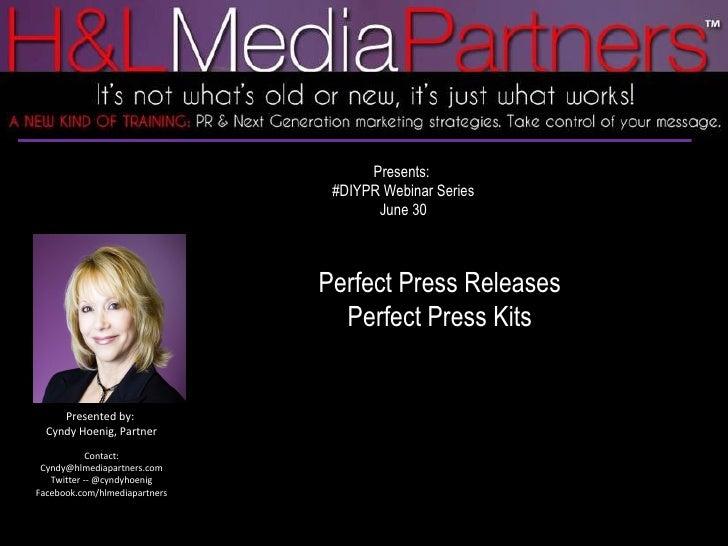 Perfect press kits & press releases
