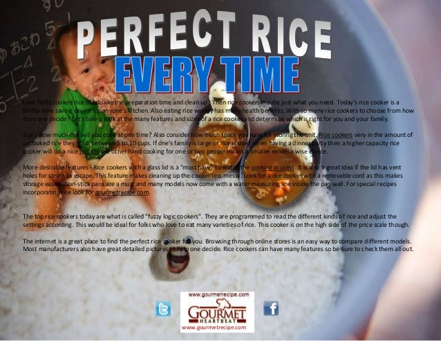 Love fluffy cooked rice but dislike the preparation time and clean up? Then rice cookers maybe just what you need. Today's...