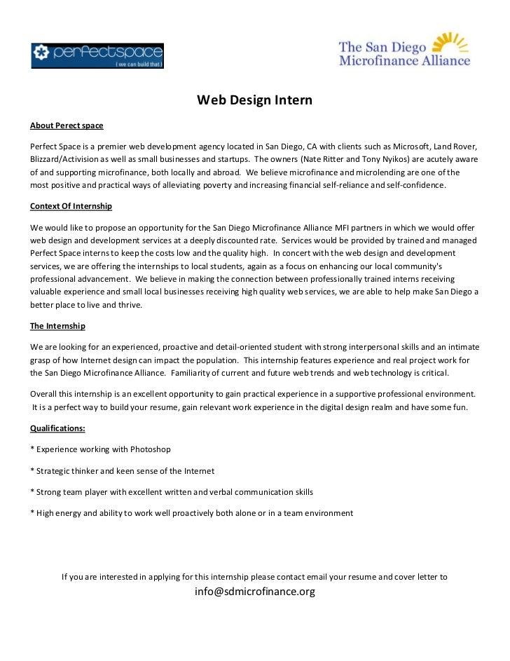 Perfect space.web design intern