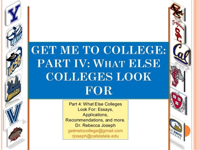 Get Me To College Part 4: What Else Colleges Look For