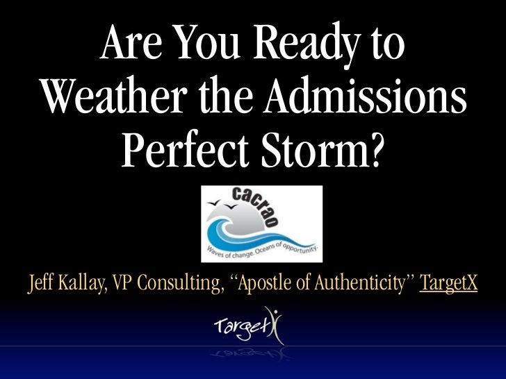 Perfect Storm CACRAO 12-2011