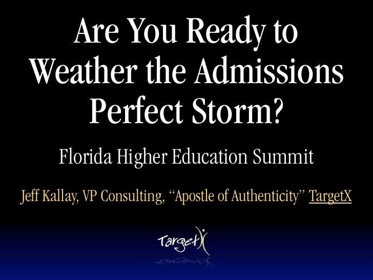 FHES/FACRAO Perfect Storm