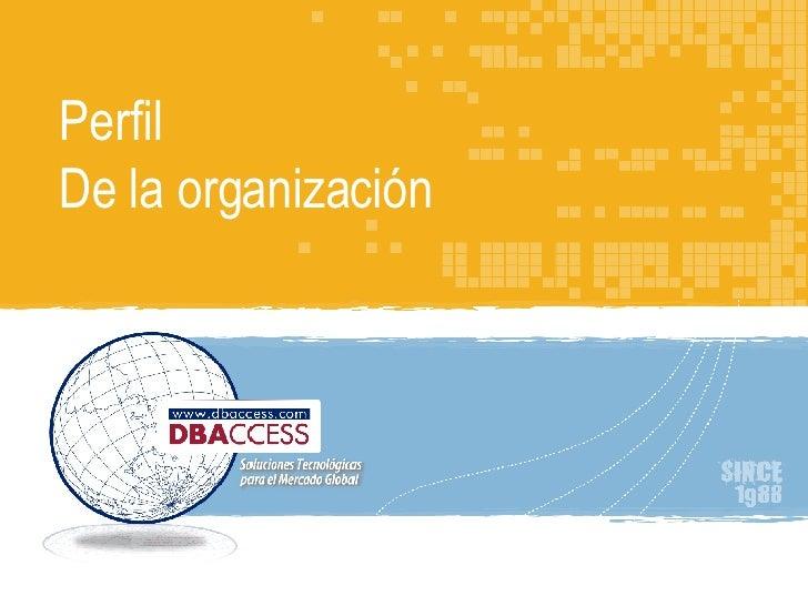 Perfil de la organización DBAccess