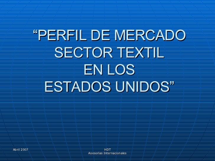 Perfil de mercado Textil EEUU