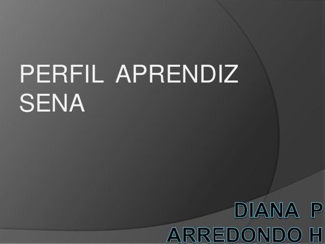 PERFIL APRENDIZ SENA