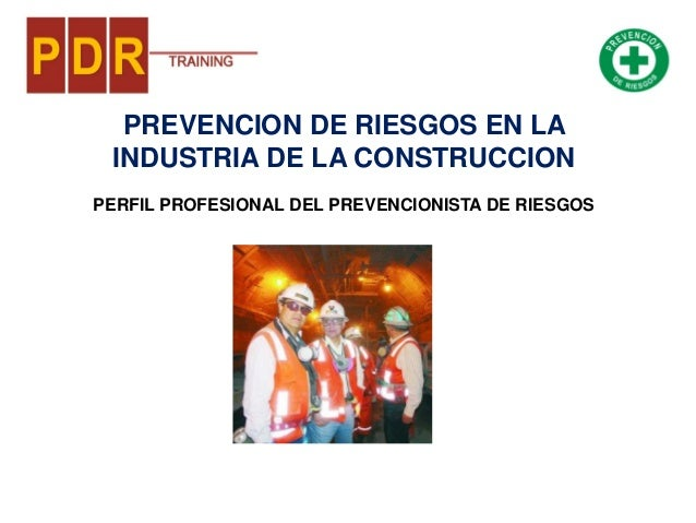 PREVENCION DE RIESGOS EN LA INDUSTRIA DE LA CONSTRUCCION PERFIL PROFESIONAL DEL PREVENCIONISTA DE RIESGOS