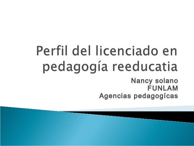 Nancy solano FUNLAM Agencias pedagogícas