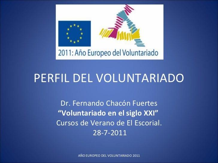 """Fernando Chacón """"El perfil del voluntariado"""""""