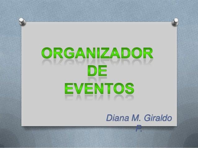 perfil de un organizador de eventos