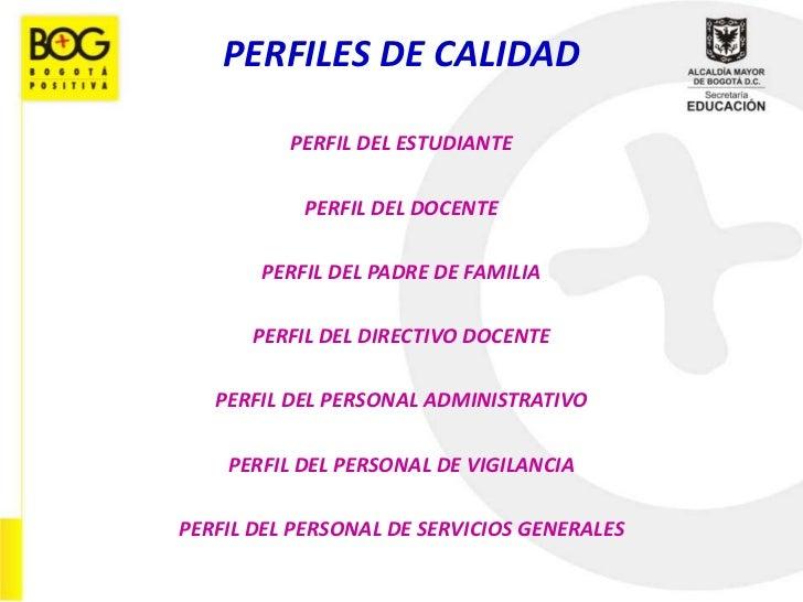 PERFILES DE CALIDAD          PERFIL DEL ESTUDIANTE           PERFIL DEL DOCENTE       PERFIL DEL PADRE DE FAMILIA      PER...